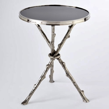 Accent Table - Twig Nickel & Black 16RND/22H