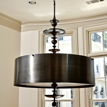 Chandelier - Turned Pendant Antique Bronze  30W/50H
