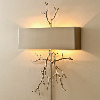 Lamp Sconce - Twig Nickel 21W/31H/4D  Hardwire