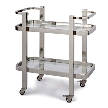 Accent Table - Serving Cart - Carter Small Stainless Steel 28W/18D/31H