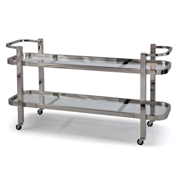 Console - Serving Cart - Carter XL Stainless Steel 56W/18D/31H