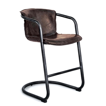 Bar Chair - Axl Counter Leather 21W/25D/ Seat 25H