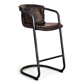 Bar Chair - Axl Bar Height Leather 21W/25D/ Seat 29H