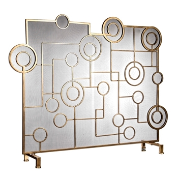 Fireplace Screen Frankie 46W/10D/36H Brass
