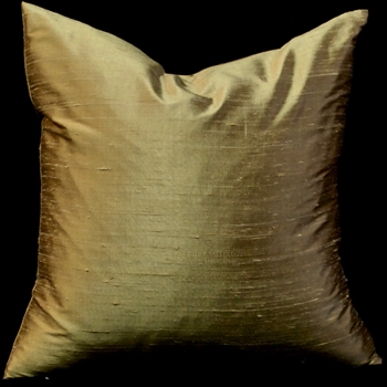 68. Dupioni Cushion Antique Gold 18SQ