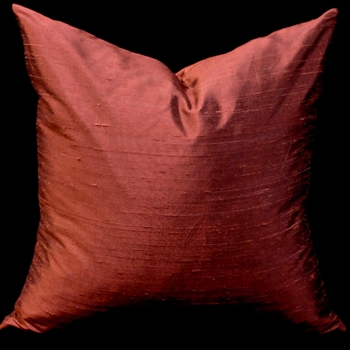 78. Dupioni Cushion Rust 18SQ