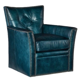 Armchair - Conner Swivel Teal Leather 31W/34D/33H