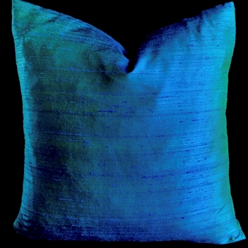 42. Teal Dupioni Silk Cushion 18SQ