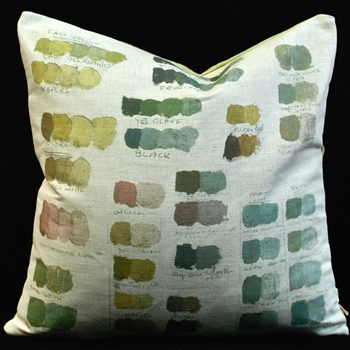 43. Verde Cushion Mixed Tones 20SQ