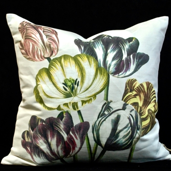 63. Tulips Buttermilk Cushion 20SQ