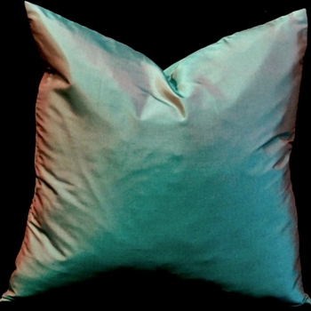 43. Shantung Silk Cushion Verde 18SQ