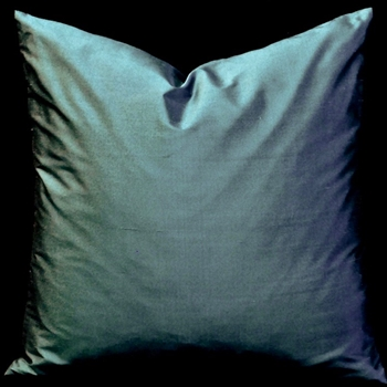42. Shantung Silk Teal Cushion 18SQ