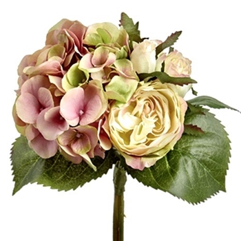 66. Hydrangea Rose Bouquet Chablis 11in