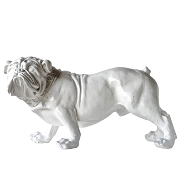 Dog - White Bulldog 28W/14D/15H