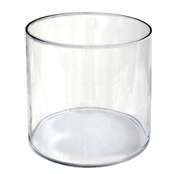 Vase - Clear Cylinder Glass 12W/12H