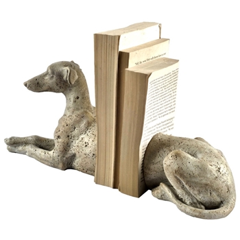 Bookend - Greyhound Dog 12W/4D/6H Oyster
