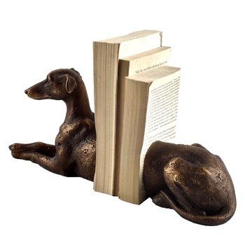 Bookend - Greyhound Dog 12W/4D/6H Bronze
