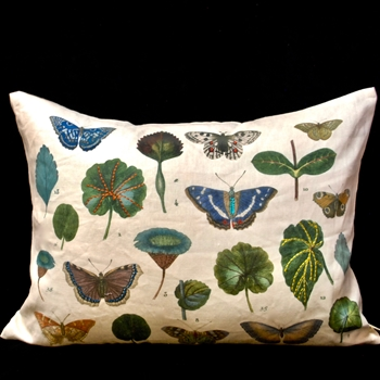 51. Butterfly Leaf Cushion Linen 24X18