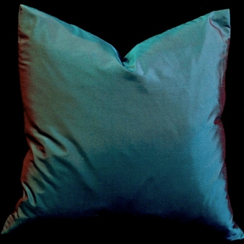 42. Shantung Cushion Teal/Red 18sq