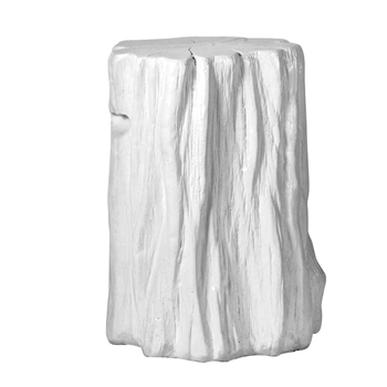 Accent Table - Garden Stool Log White 14x20H