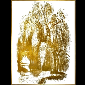 32W/42H Framed Giclee - Underneath I - Gold Gallery Float - Sonia Noir