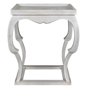 Accent Table - Bellini 24x24x28H White Washed