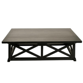 Coffee Table - Sutton Hand Rubbed Black 65x36x18.5H