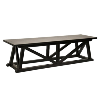 Coffee Table - Sutton Bench 64W/18D/19H Hand Rubbed Black
