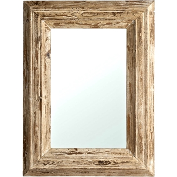 30W/40H Mirror Colfax Vanity Natural Fir Wood