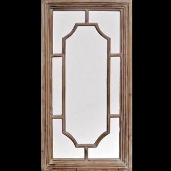 24W/48H Mirror Brophey Fir Wood Natural