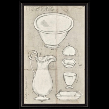 17W/26H Framed Print - Preparing Dishes