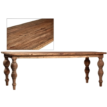 Dining Table - Campbell 86x39x30H Mindi Wood