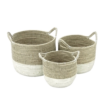 Basket - 2Tone Rattan 18in