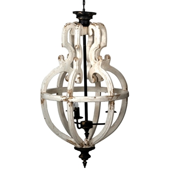 Chandelier - Finia White Washed 20W/35H