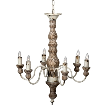 Chandelier - Farmhouse Classic 6L 21W/25H