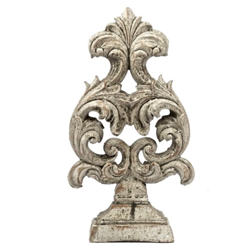 Finial - Crest Oyster B  7x4x14H