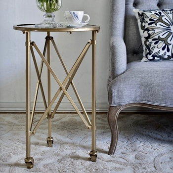 Accent Table - Gilbert Gold 17W/26H