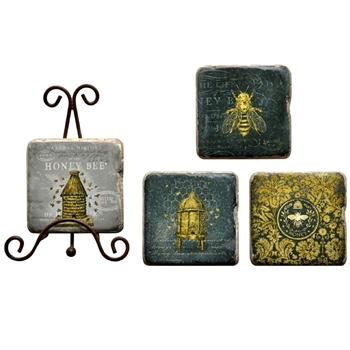 Coaster - Bee Set4 With Stand