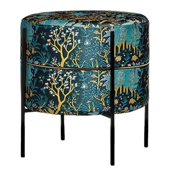 Ottoman - Chinoiserie Teal 16W/21H