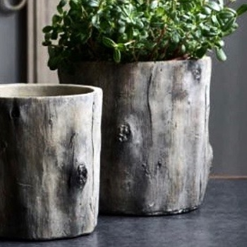 Planter - Faux Bois Pot 4 Sizes 5IN to 11in