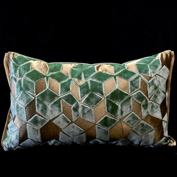 47. Fitzrovia Cushion Jade 20W/12H