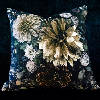 23. Dahlia Noir Cushion Slate 24SQ