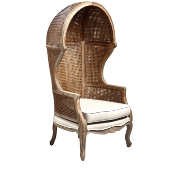 Arm Chair - Dome - Lars Cane Honey 31W/30D/60H