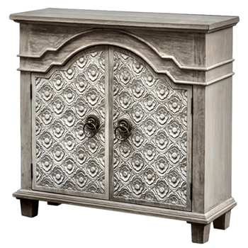 Chest - Allaire Oyster 35W/12D/35H - Hand Carved Mindi Wood