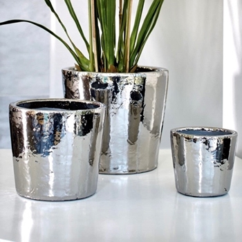 Planter - Silver Sterling 3 Sizes 5, 7 & 9IN