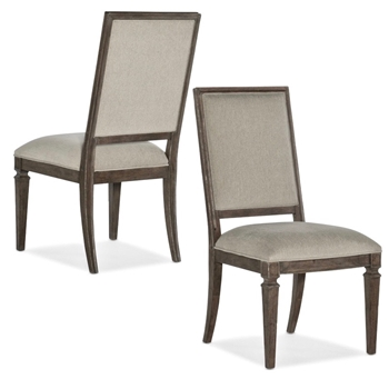Dining Chair - Woodlands 22W/26D/42H Faux Linen