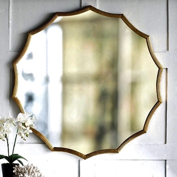 40W/40H Mirror - Radiant Gold Scallop