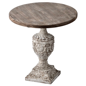 Accent Table - Garland Antique White & Natural 30W/31H