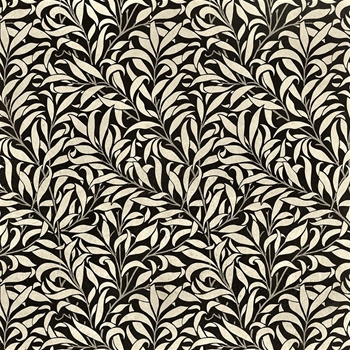 Floorcloth - Willow & Bough Charcoal & Linen - Detail 20SQ - Morris & Co
