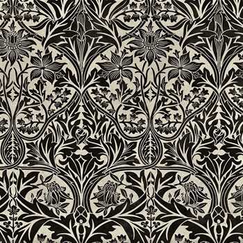 Floorcloth - Bluebell Black & Dove - Detail 20SQ - Morris & Co